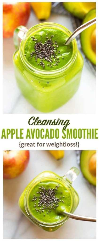 Cleansing Apple Avocado Smoothie