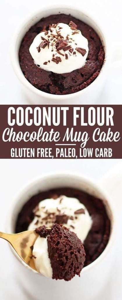 Coconut Flour Chocolate Mug Cake simple recipe