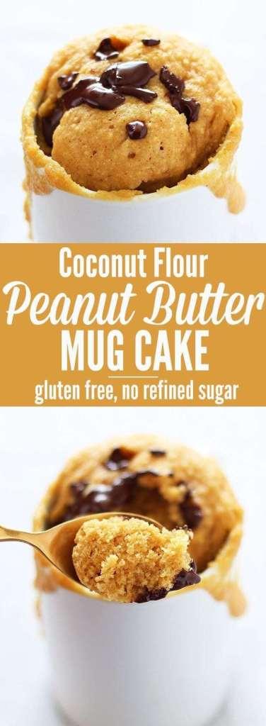 Coconut Flour Peanut Butter Mug Cake simple recipe