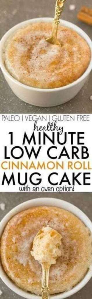 Healthy 1-Minute Cinnamon Roll Mug Cake recipe