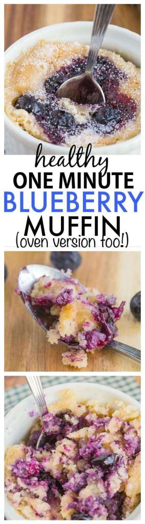 Healthy Blueberry Muffin one minute recipe