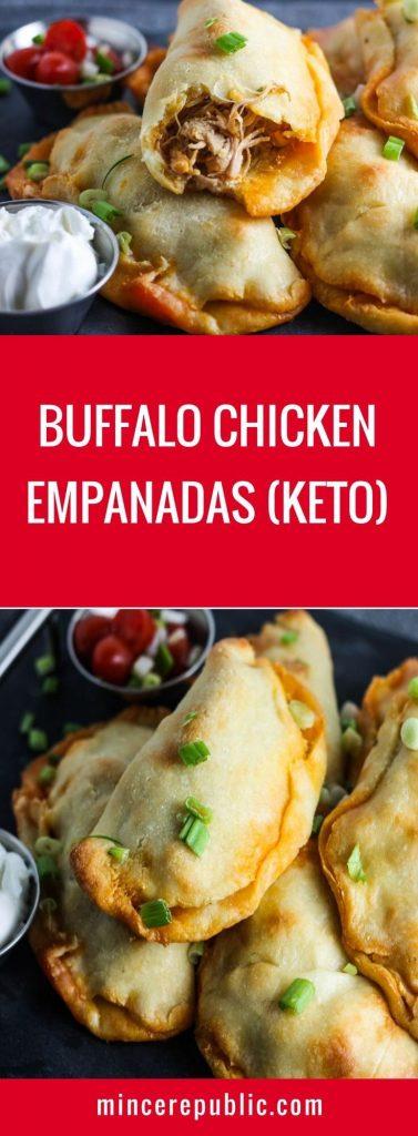 Keto Buffalo Chicken Empanadas