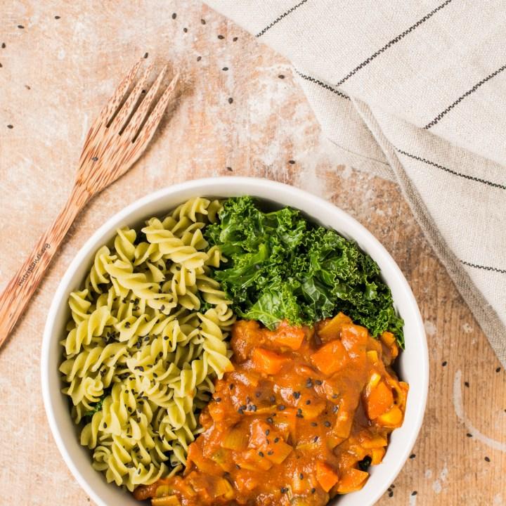 Simple Mushroom Tomato Pasta Sauce