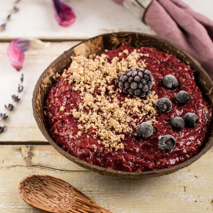Chocolaty Millet Amaranth Porridge with Beets