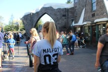 my dad took this one, what a guy, it was the split second my camera wasn't around my neck, but it was a good moment. malfoy shirt+wand=happy girl