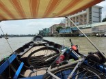 I arrived in Can Tho before noon, and so my hotel room wasn't ready yet. So I went to the riverfront and grabbed a boat tour through the small canals and floating market.