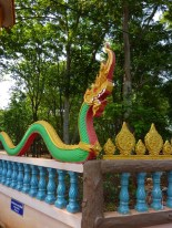 Colorful Naga at a small temple