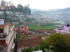 The view from my window in Ooty.... it was nice and chilly there too, 2000m elevation or more!