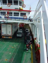 Motorbike on a ferryboat, crossing the dardanelles from Asia into Europe!