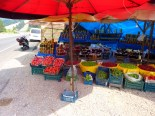 On the road again... roadside produce stand between Akcay and Balikesir.