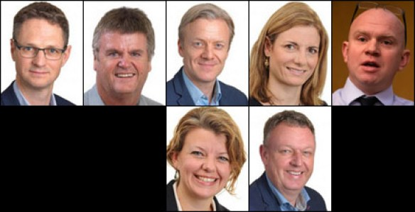 The Executive Committee of AgDevCo, which is funded by UK Aid to invest in agribusinesses in Africa: Daniel Hulls, Jim Henderson, Chris Isaac, Melissa Manzo, Alec Martin, Hannah Ratcliffe, Eric Wiersma