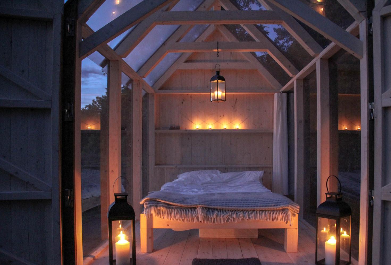 Спальня в лесу
