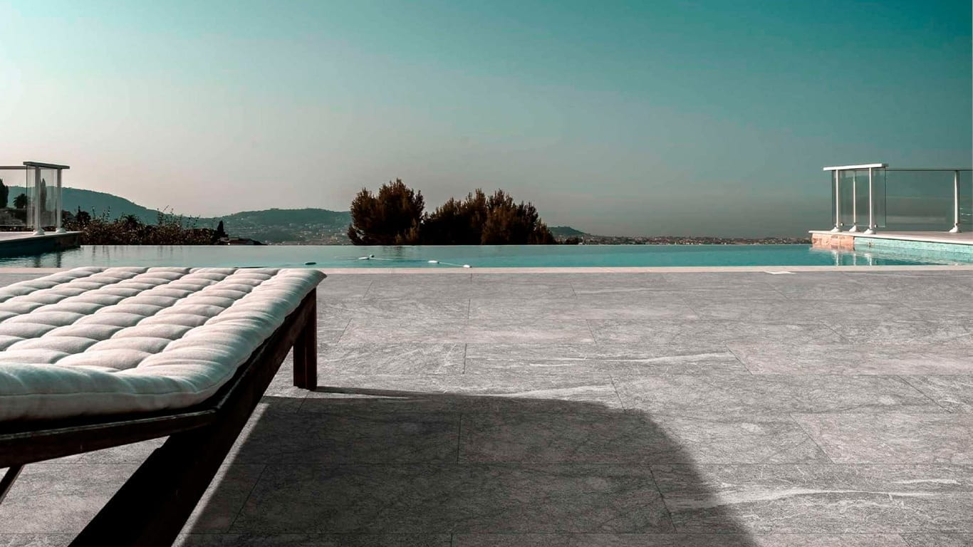 sandblasted marble pool design