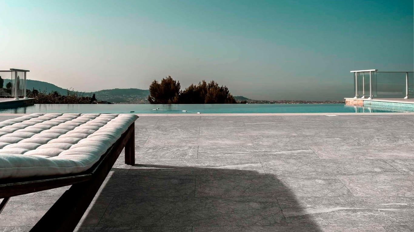 sandblasted marble pool design