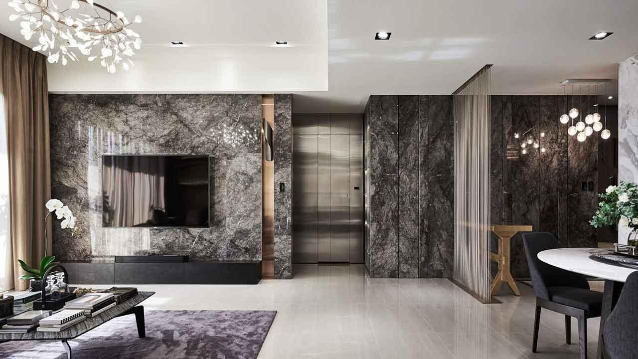 grigio pineta interior marble design