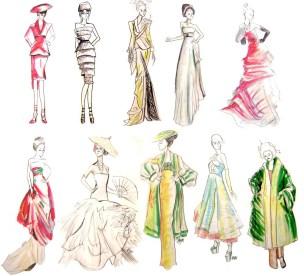 Rapid Fashion Drawings