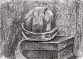 Helmet and Box Still Life