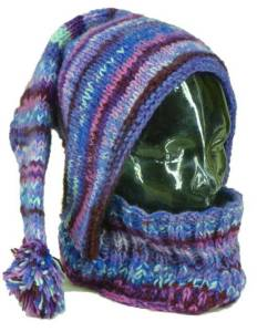 Purple knitted snoodie_Karma Gear