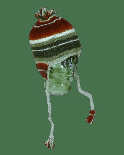 Red stripey knitted winter hat| Karma Gear
