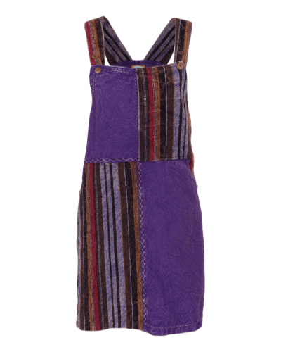 Karma Gear - Dungaree Dress Purple Handmade and Fairly Traded from Nepal