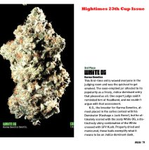 Karma's White OG Featured in Full Page High Times Article!
