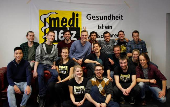 """Hier ist ein Bild der engagierten studentischen Gruppe """"MediNetz Rhein-Neckar"""" zu sehen, das sie auf ihrem Initiativtag im Februar 2017 geschossen haben"""