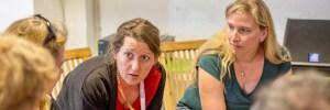 Foto von Valentim Bachem auf dem Literaturcamp Heidelberg. Hier bei einer Diskussion nach einer Session.