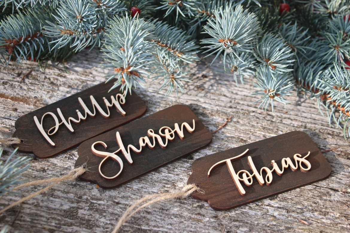 Personalized Wooden Gift Tags