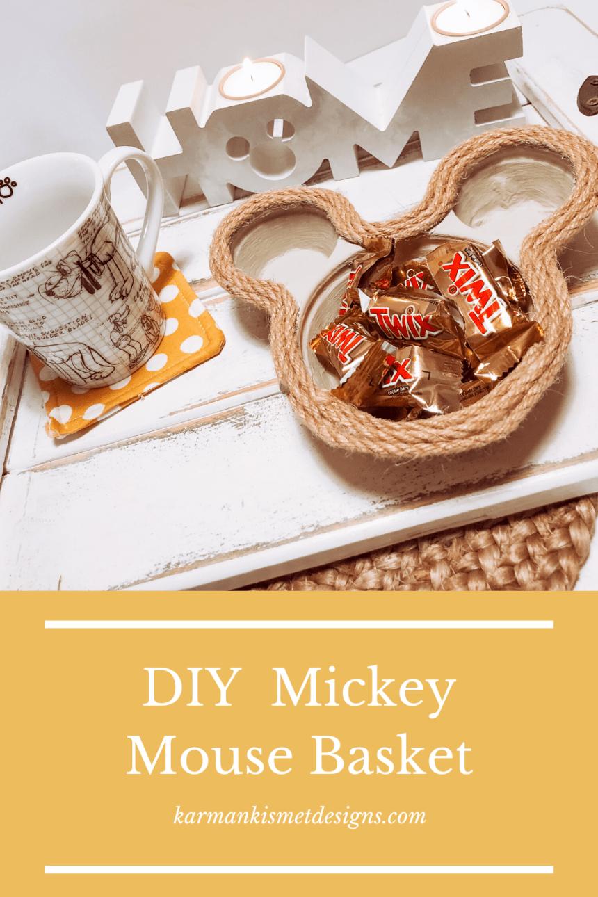 DIY Mickey Mouse Basket