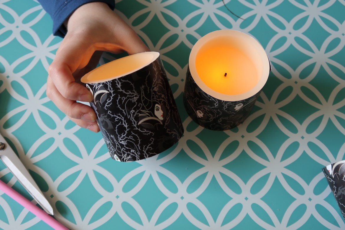 Maleficent themed candles