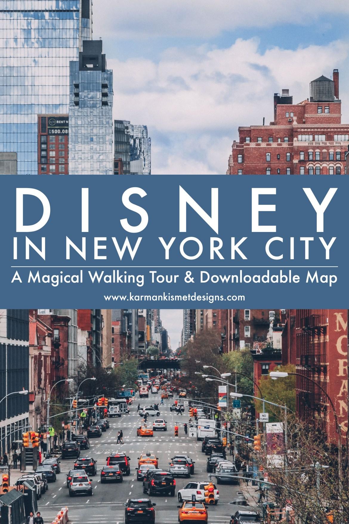 Disney NYC Walking Tour Free Printable Map