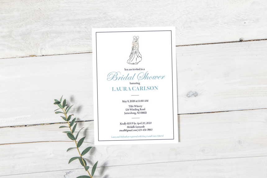 Disney Bridal Shower Invitations