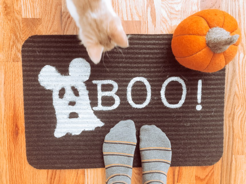 Disney Halloween Welcome Mat