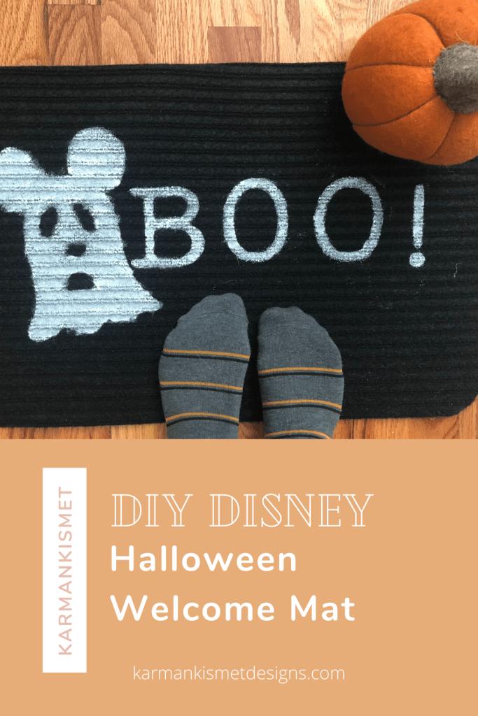 DIY Disney Halloween Welcome Mat