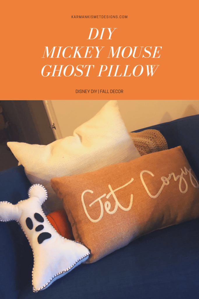 DIY Mickey Mouse Ghost Pillow