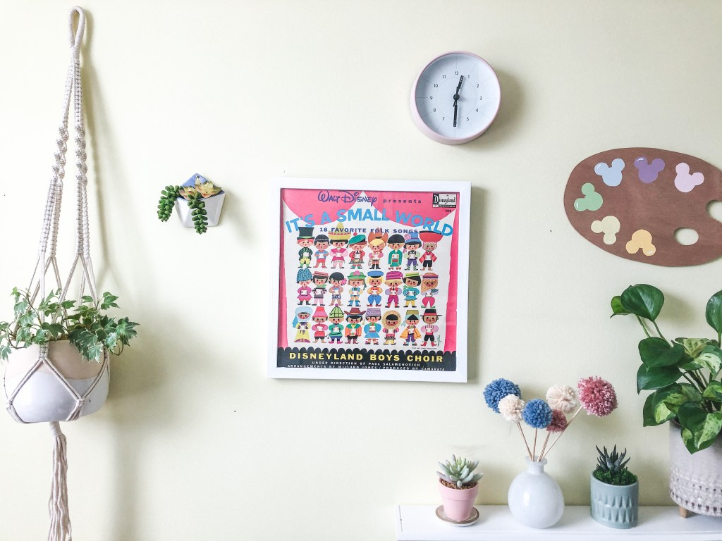 Disney home decor with It's a Small World vintage vinyl