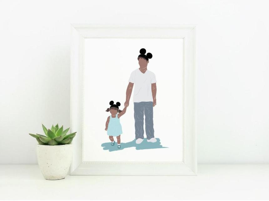 Disney Dad Art Print