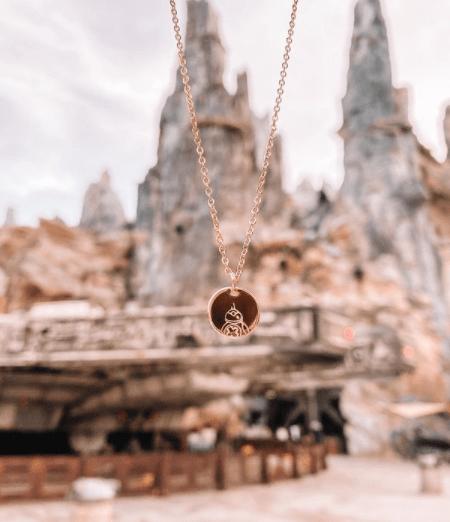 Star Wars BB-8 Hand Stamped Necklace