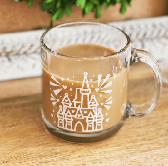 Disney coffee Mug Glass