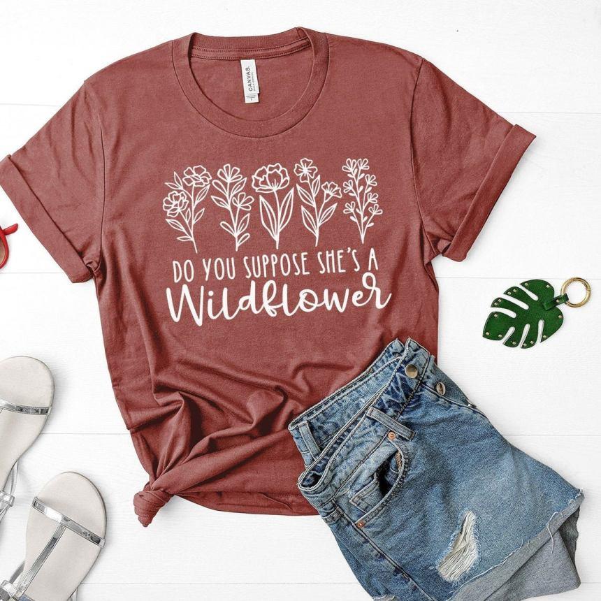 Alice in Wonderland Wildflower Shirt