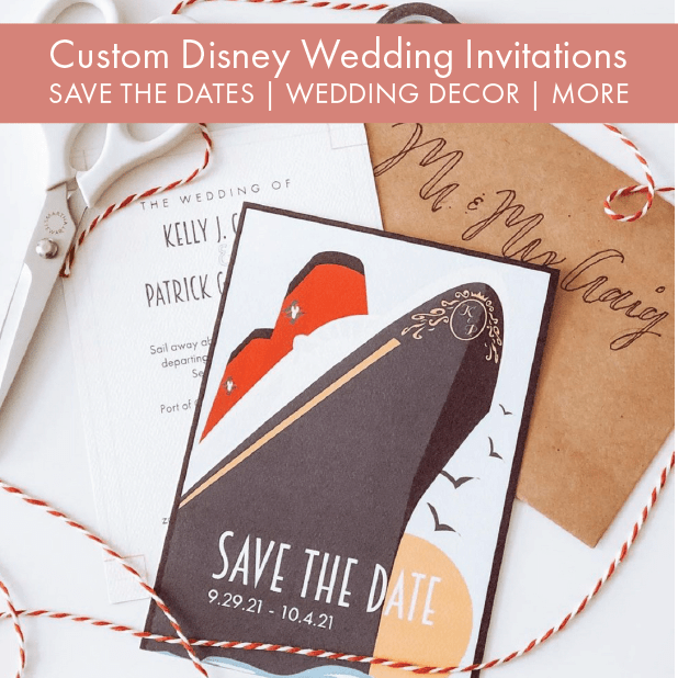 custom Disney wedding invitations