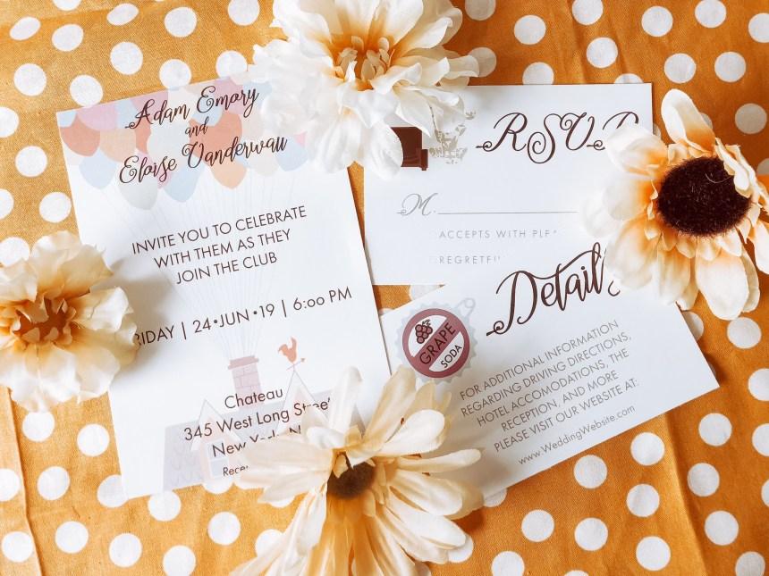 Disney Up Wedding Invitations