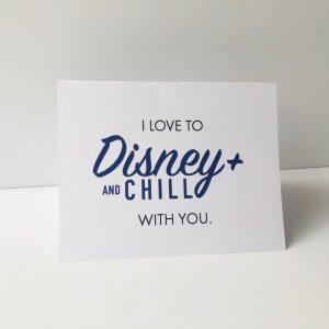 Disney Plus Valentines Card