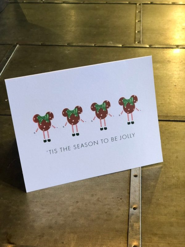 Minnie Mouse Ornament Christmas card