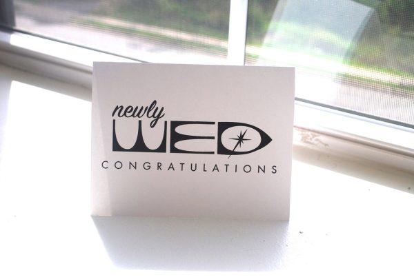 Newly Wed Disney Retro Wedding Card
