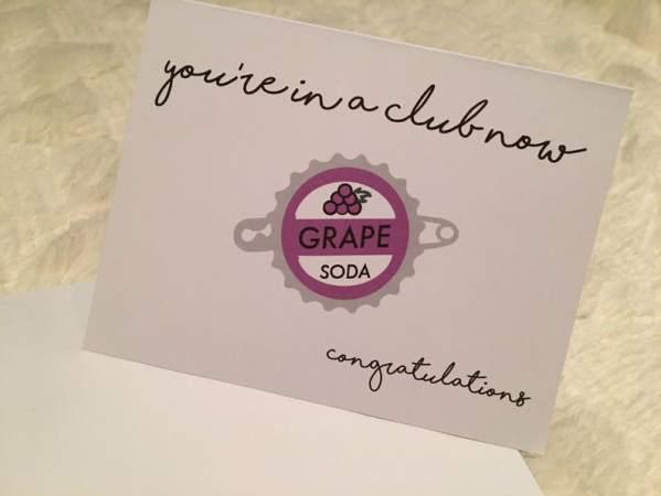 Up Grape Soda Disney Wedding Card