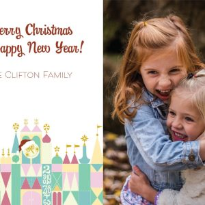 disney small world christmas card