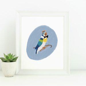 tiki room barker bird disneyland art