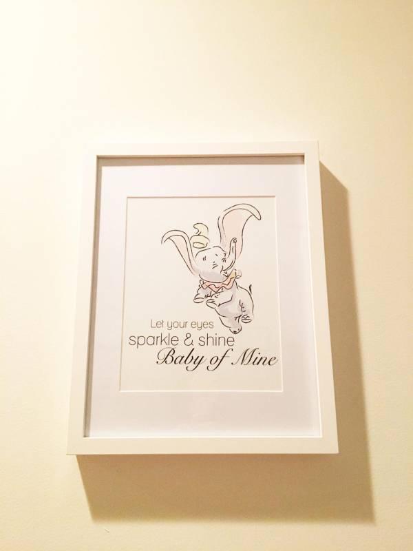 Dumbo Art print disney nursery