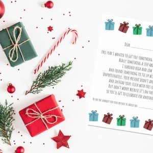 late christmas gift letter